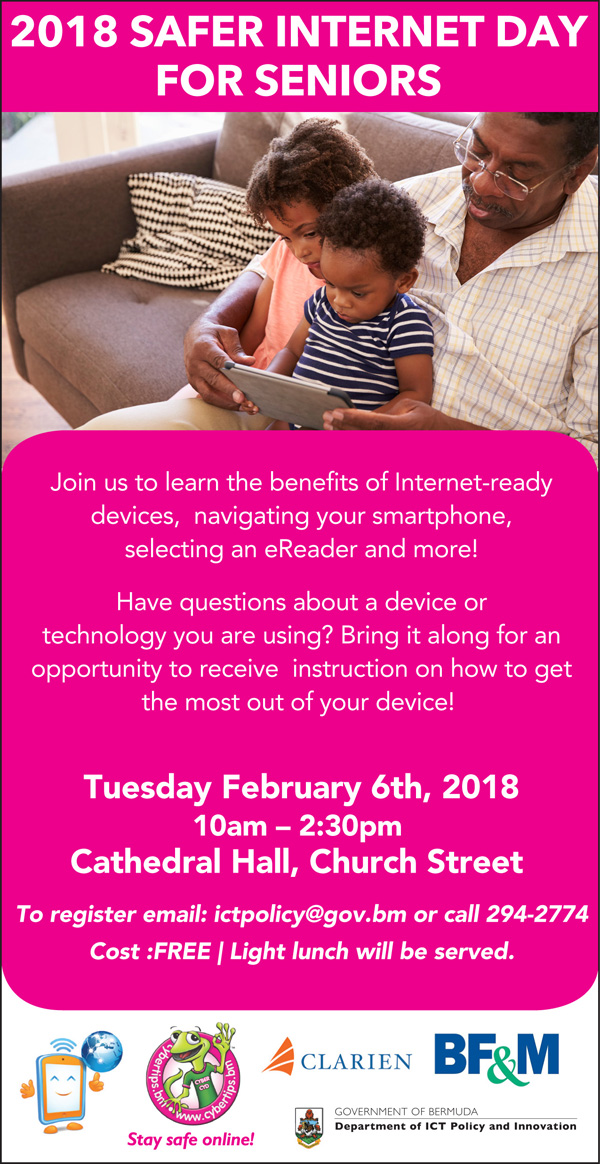 Safer Internet Day for Seniors Bermuda Jan 2018