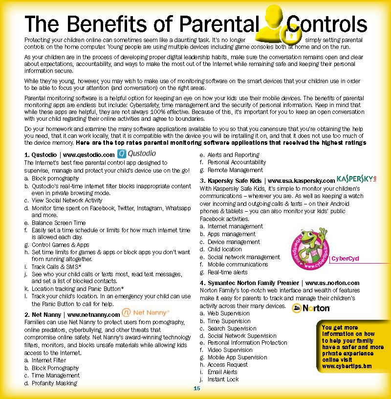 The Benefits of Parental Controls